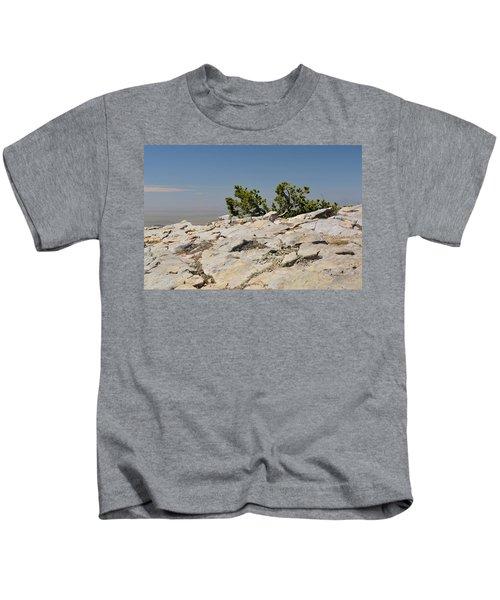 On Top Of Sandia Mountain Kids T-Shirt