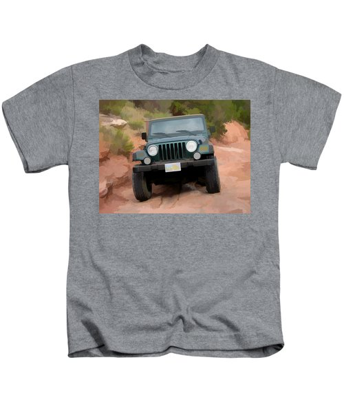 Only Jeeps Here Kids T-Shirt