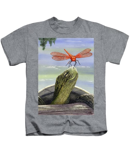 Orange Dragonfly Kids T-Shirt