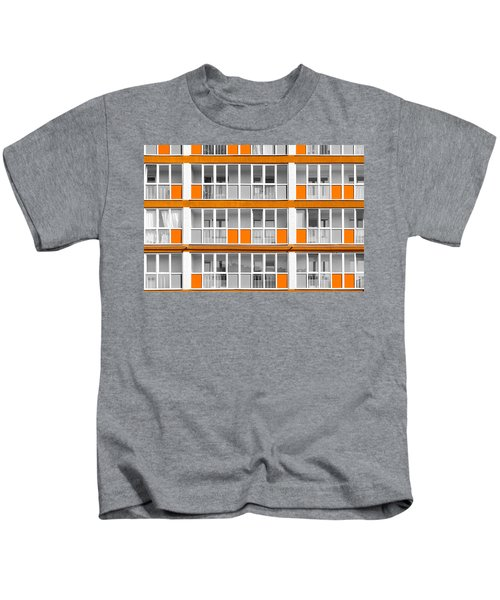 Orange Exterior Decoration Details Of Modern Flats Kids T-Shirt