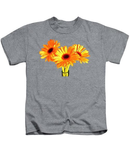 Orange Gerbera's Kids T-Shirt by Scott Carruthers