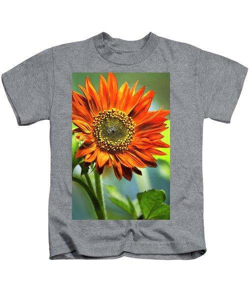 Orange Sunflower Kids T-Shirt