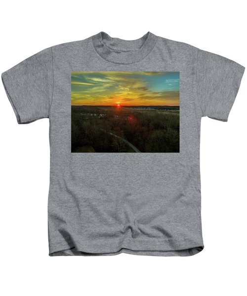 Orange Sunrise Kids T-Shirt