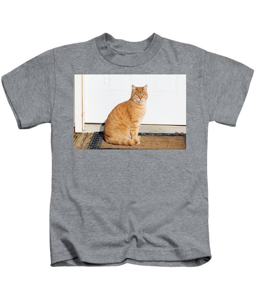 Orange Tabby Cat Kids T-Shirt