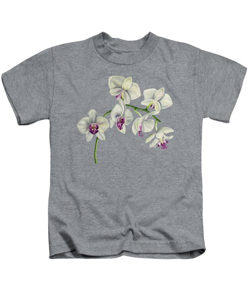 Orchid Watercolor Painting Kids T-Shirt