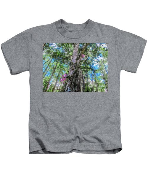 Orchids In A Tree Kids T-Shirt