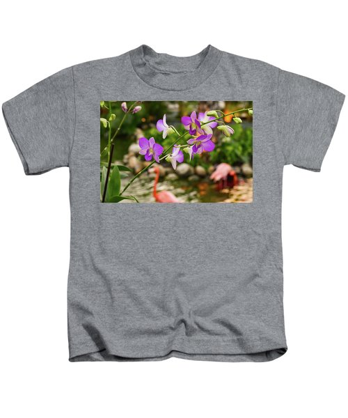 Orchids In Paradise Kids T-Shirt