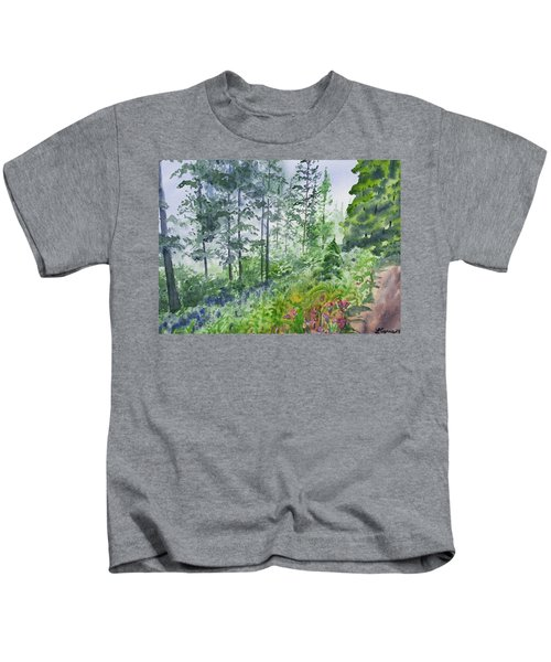 Original Watercolor - Summer Pine Forest Kids T-Shirt