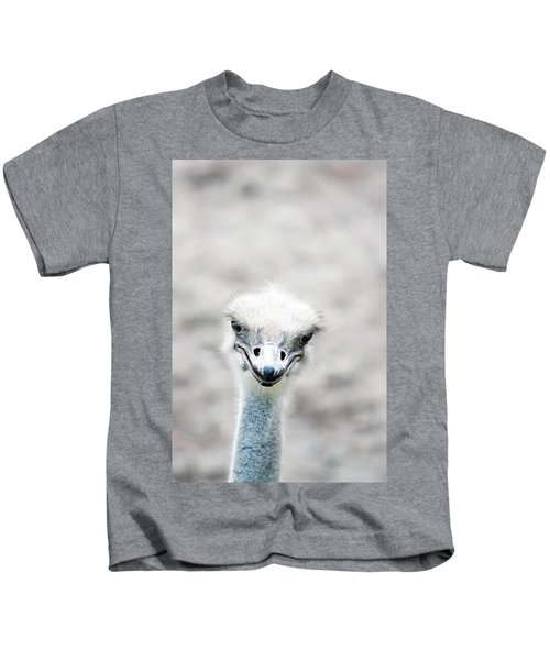 Ostrich Kids T-Shirt by Lauren Mancke