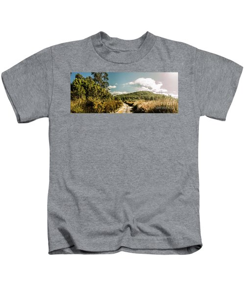 Outback Country Road Panorama Kids T-Shirt