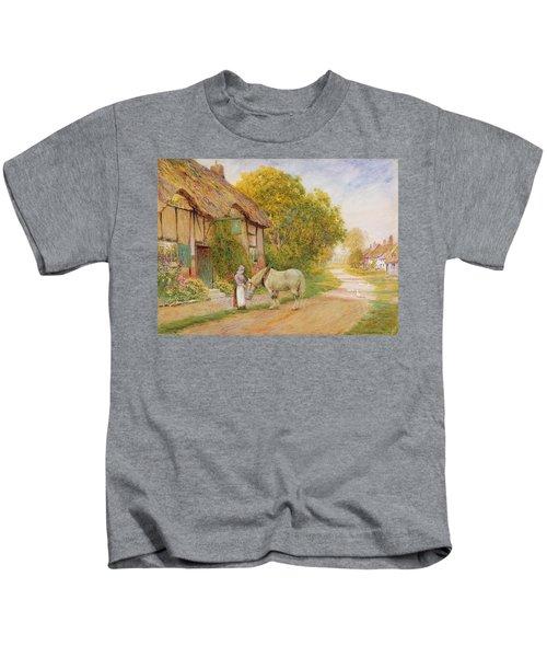 Outside The Village Inn Kids T-Shirt