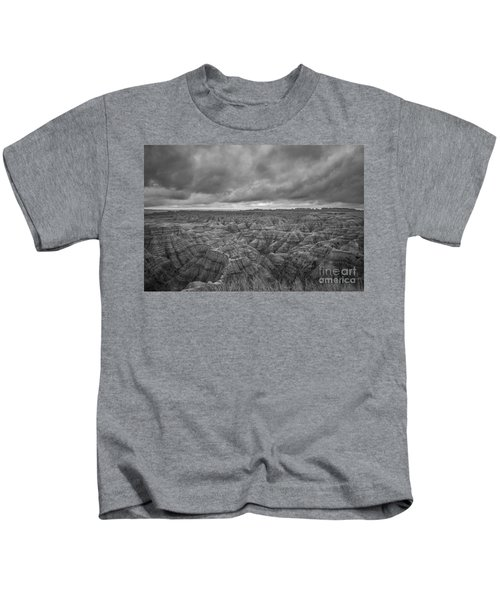 Overlooking The Badlands Bw Kids T-Shirt