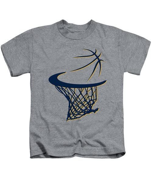 Pacers Basketball Hoop Kids T-Shirt