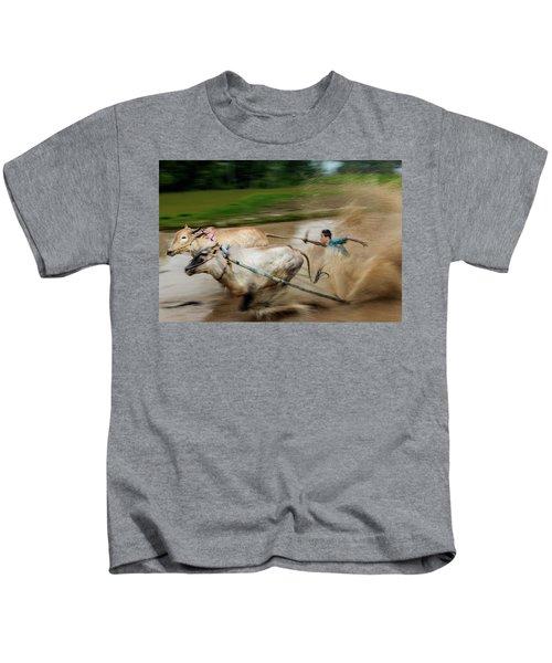 Pacu Jawi Bull Race Festival Kids T-Shirt