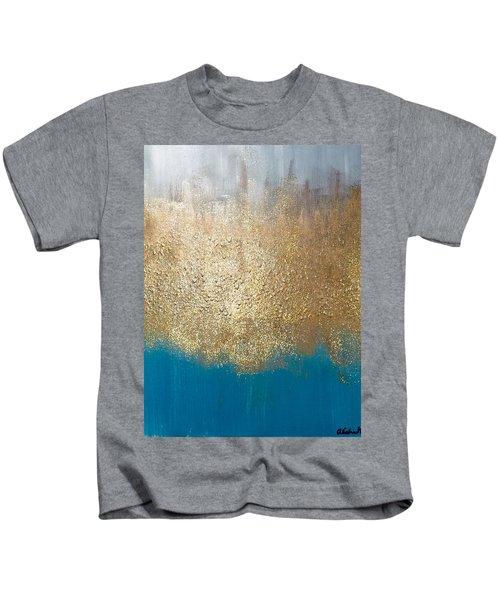 Paint The Sky Gold Kids T-Shirt