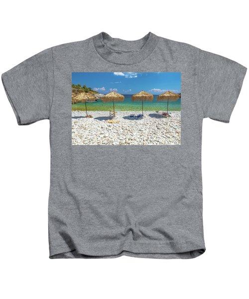 Palapa Umbrellas Kids T-Shirt