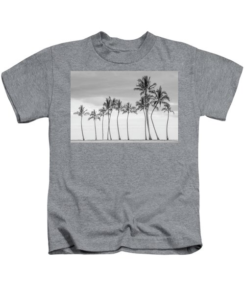 Paradise In Black And White Kids T-Shirt