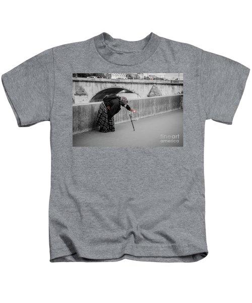 Parisian Beggar Lady Kids T-Shirt