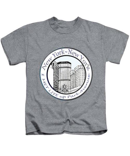 I Met Life Up Park Avenue Nyc Kids T-Shirt