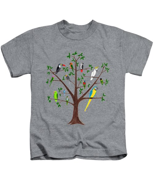 Parrot Tree Kids T-Shirt by Rita Palmer