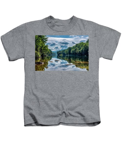Partially Cloudy Gauley River Kids T-Shirt