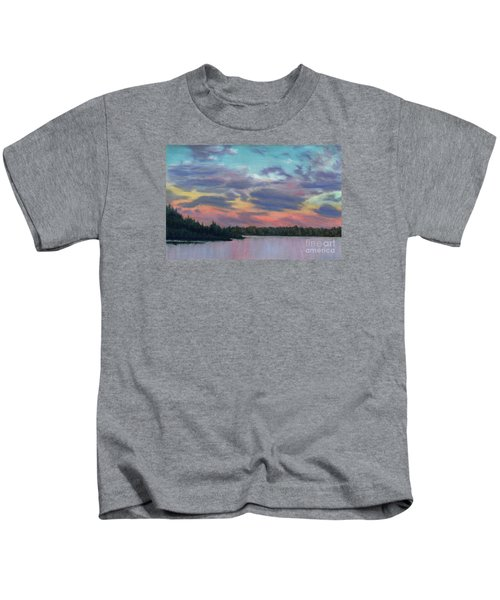 Pastel Sunset Kids T-Shirt