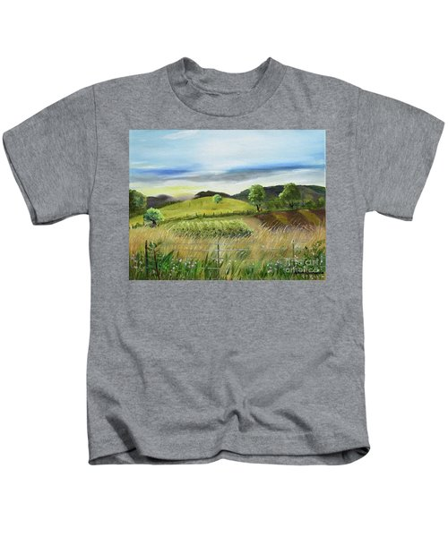 Pasture Love At Chateau Meichtry - Ellijay Ga Kids T-Shirt