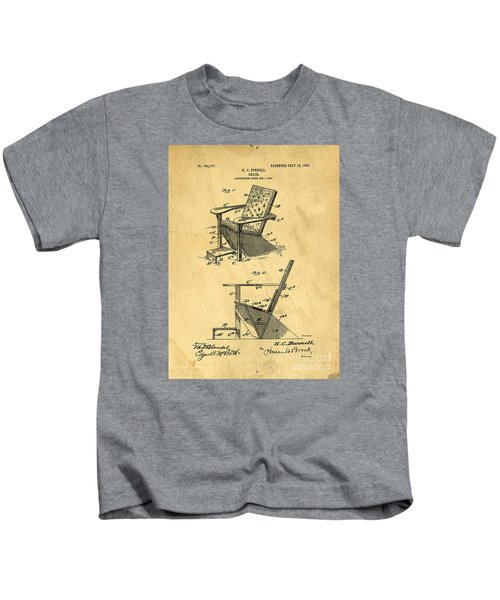 Patent For The First Adirondack Chair 1905 Kids T-Shirt