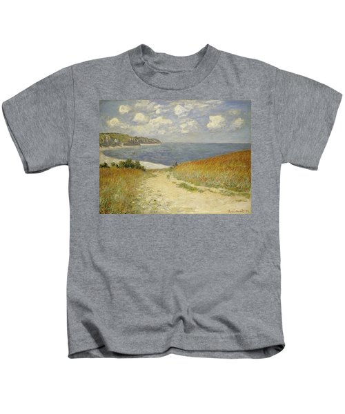 Path In The Wheat At Pourville Kids T-Shirt
