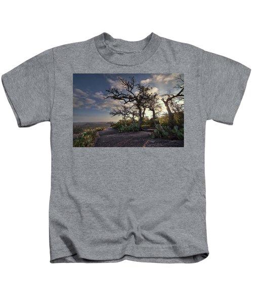 Pathway On Top Of Enchanted Rock Kids T-Shirt