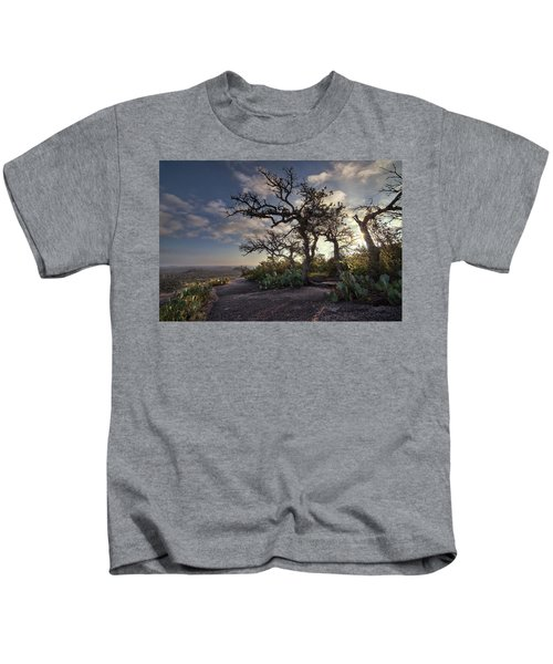Pathway On Top Of Enchanted Rock Kids T-Shirt