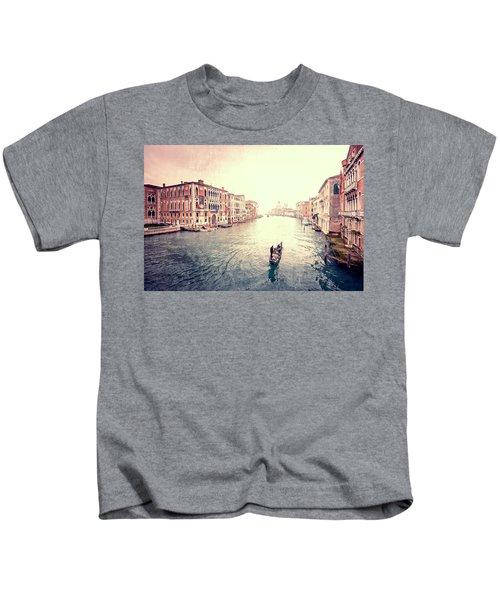 Peace In Venice Kids T-Shirt