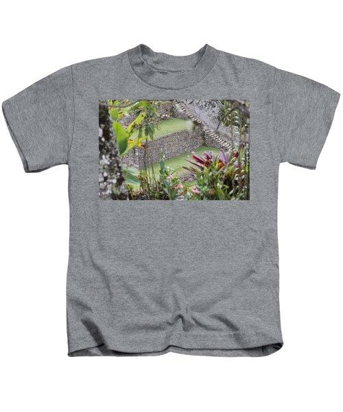 Peeking In At Machu Picchu Kids T-Shirt