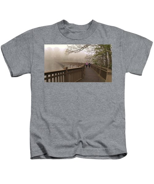 Pedestrian Bridge Early Morning Kids T-Shirt
