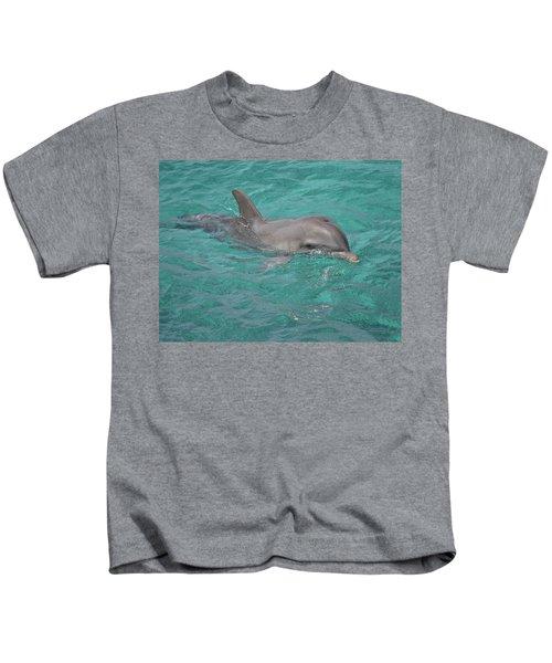 Peeking Dolphin Kids T-Shirt