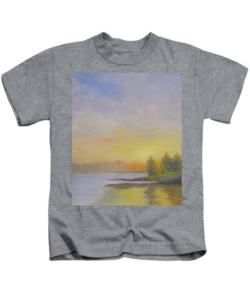 Pemaquid Beach Sunset Kids T-Shirt