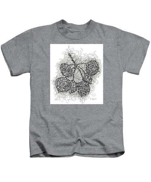 Pen And Ink Drawing Of Aspen Leaves Kids T-Shirt