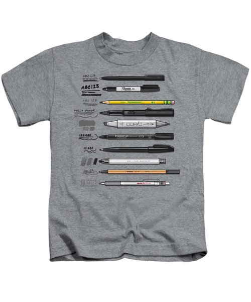 Pen Collection For Sketching And Drawing Kids T-Shirt