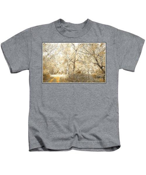 Pennsylvania Autumn Woods Kids T-Shirt