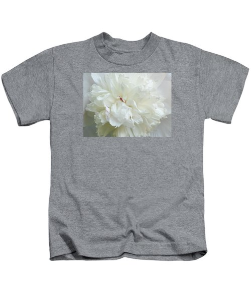 Peony In White Kids T-Shirt