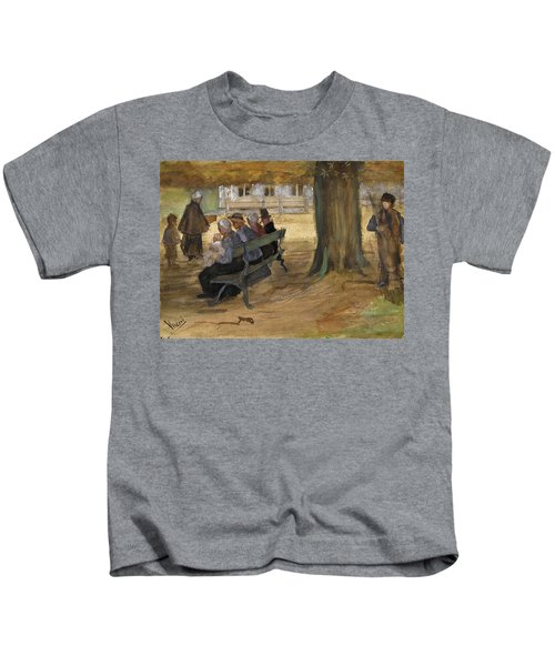 People Sitting On A Bench In Bezuidenhout. The Hague Kids T-Shirt