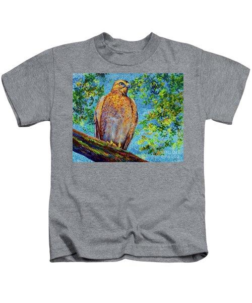 Perched Hawk Kids T-Shirt