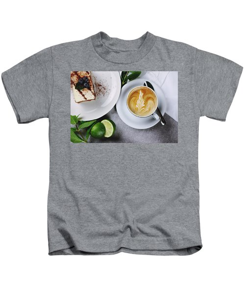 Perfect Breakfast Kids T-Shirt by Happy Home Artistry