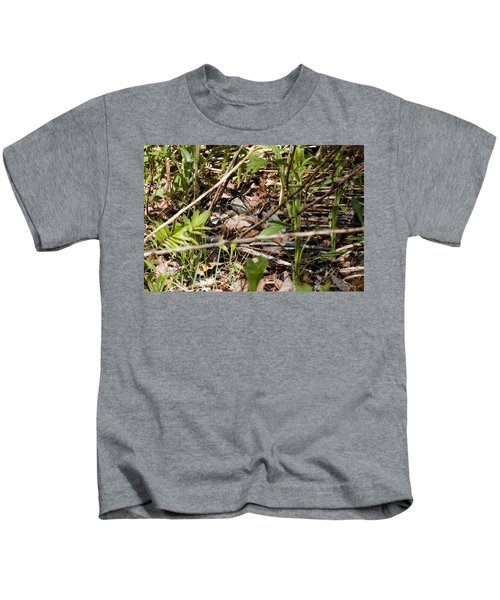 Perspective Of A Camouflage Kids T-Shirt