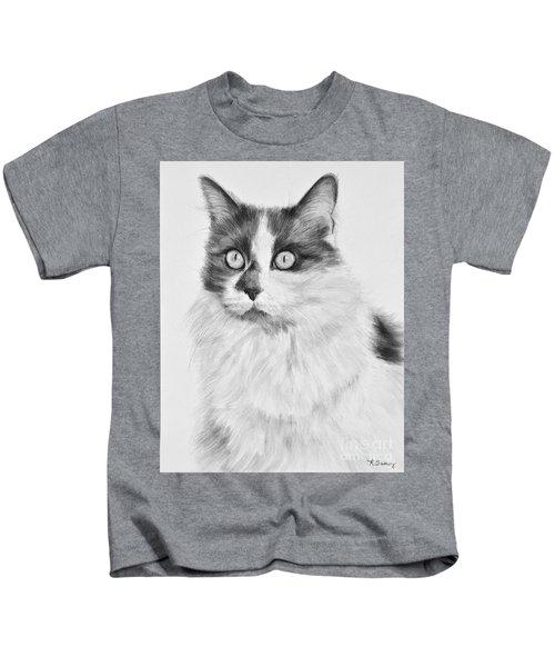 Pet Cat Drawing Olivia Kids T-Shirt