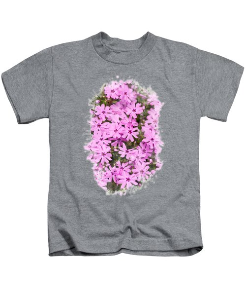 Phlox Flowers Watercolor Art Kids T-Shirt