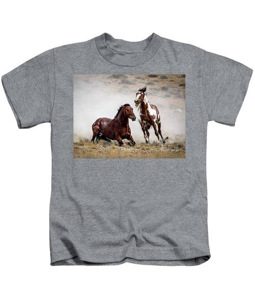 Picasso - Wild Stallion Battle Kids T-Shirt