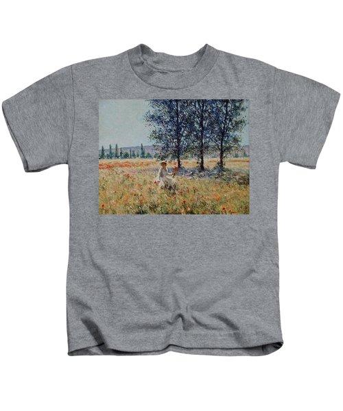 Picking Flowers  Kids T-Shirt