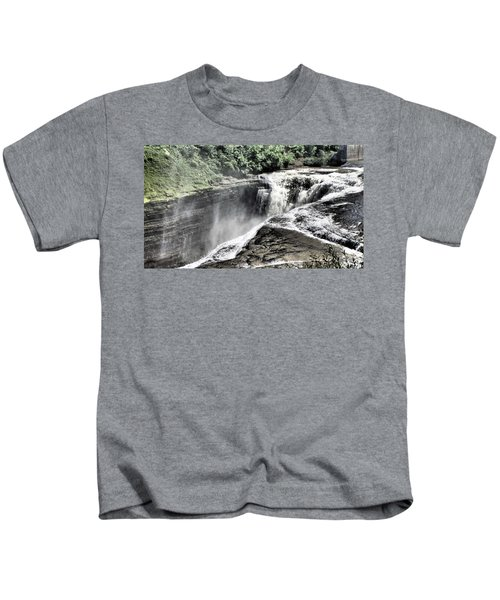 Picture Of Waterfalls At Letchworth Kids T-Shirt