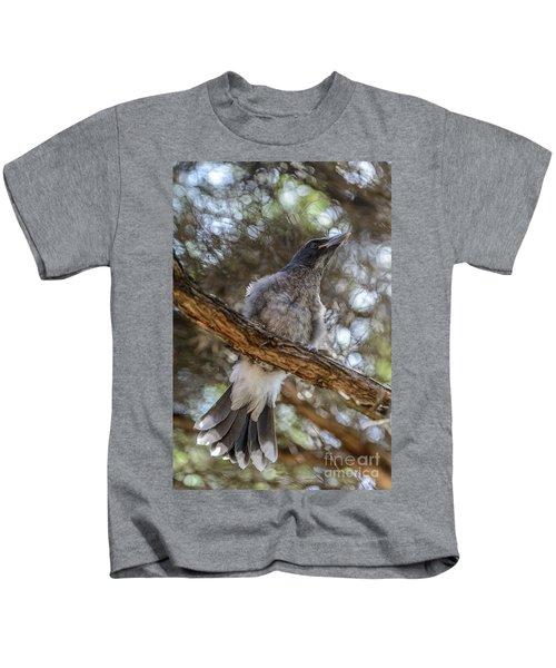 Pied Currawong Chick 1 Kids T-Shirt
